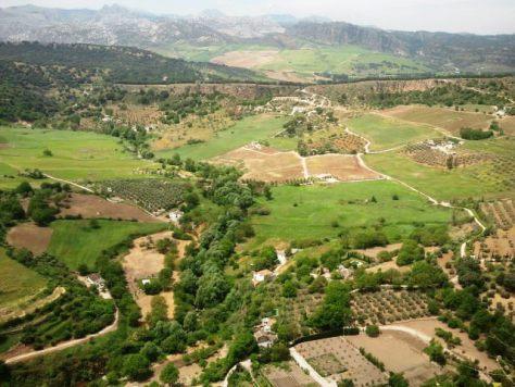 Cosa vedere a Ronda - La Sierra de Ronda vista dal borgo.