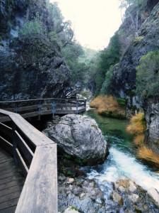 La passerella sul Rio Borosa.