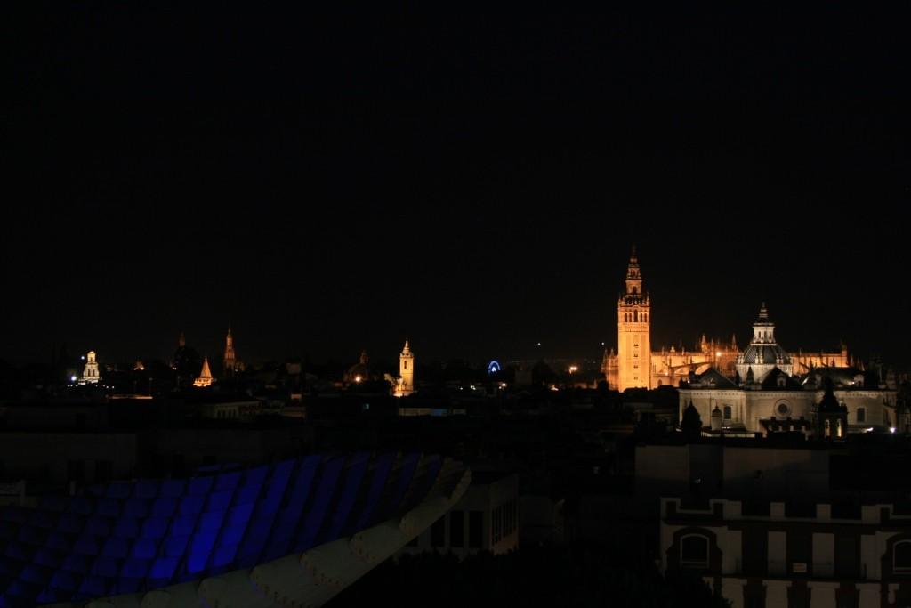 "Lo skyline di Siviglia da ""Las Setas""."